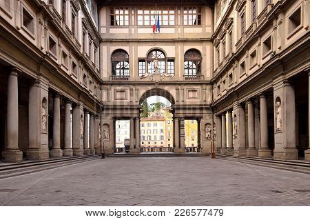 The Uffizi Gallery In Florence In Italy.