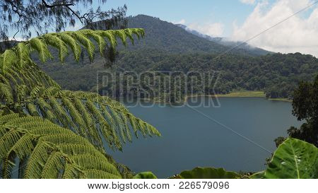 Lake Tamblingan, A Caldera Lake At Bali. Beautiful Lake With Turquoise Water In The Mountains Of The