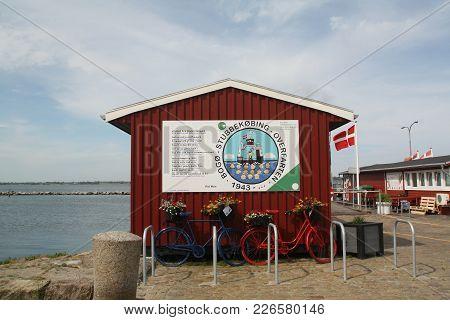 Stubbekøbing-june-09-2017. Kiosk In The Harbour Of Stubbekøbing On The Island Of Falster. Denmark