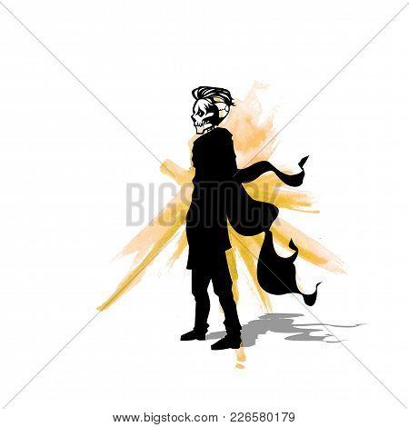 The Dead Man Logo On White Background Vector Illustration Design.