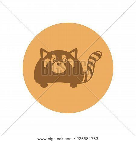 Cute Polecat Circular Icon Vector Illustration Graphic Design