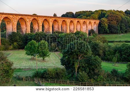 Evening At The Cefn Mawr Viaduct, Wrexham, Wales, Uk