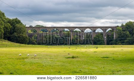 The Chirk Aqueduct & Viaduct, Wrexham, Wales, Uk