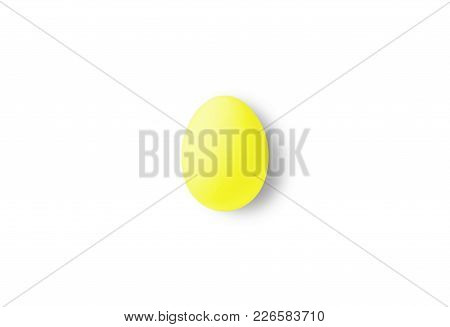 One Yellow Isolated Egg On A White Background