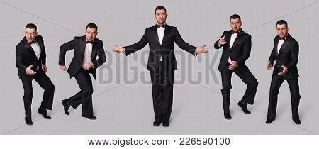 Handsome Man In Black Tuxedo