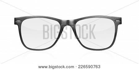 Eye Glasses Isolated On White Background Close Up