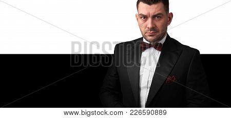 Handsome Man Is Wearing Tuxedo