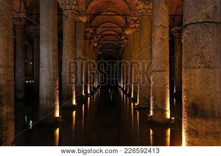 The Basilica Cistern - Underground Water Reservoir. Istanbul, Turkey