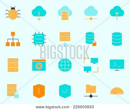 Hosting Icon.  96x96 For Web Graphics And Apps.  Simple Minimal Pictogram. Vector