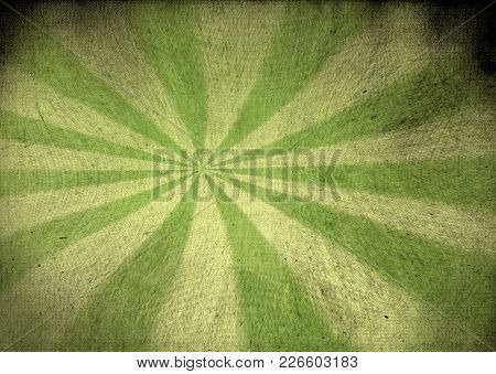 A Faded Vintage Green Canvas Starburst Background