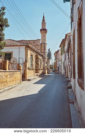Selimiye Street View Around Selimiye Mosque In North Nicosia. Nicosia Is Populer Tourist Destination