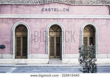 Castellon,spain-january 30,2018: Ancient Old Train Station In Castellon,spain.