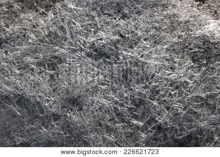 Black An White Ice And Frost Background