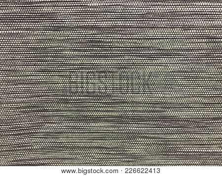 Pattern Of Gray Woven Window Shade, Background And Texture
