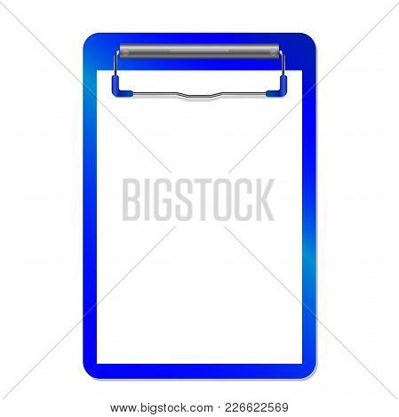 Folder With Clip Vector Isolated On White