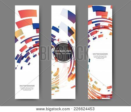 Set Of Web Banner Templates For Your Site Or Blog With Geometric Elements