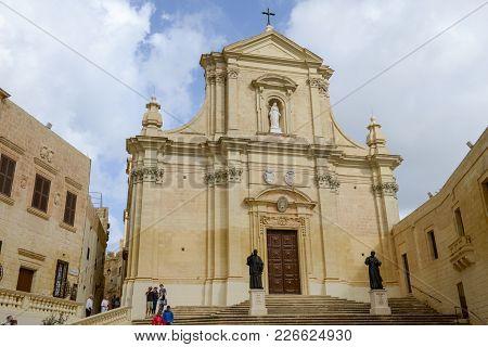The Church At Victoria On Gozo Island, Malta