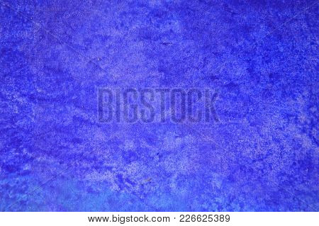 A Blue Painted Wall In A Modern School