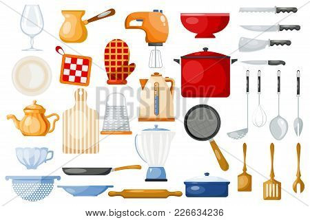Kitchenware Vector Cookware For Cooking And Kitchen Utensils Or Cutlery For Kitchener Illustration T