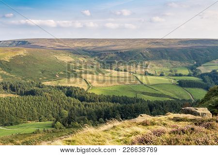 View Across The North York Moors From Cleveland Way Between Clay Bank And Wainstones, Near Stokesley
