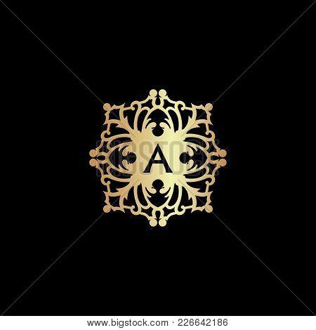 Vintage Old Style Ornament Logo Icon Monogram. Letter A Logo. Royal Hotel, Premium Boutique, Fashion