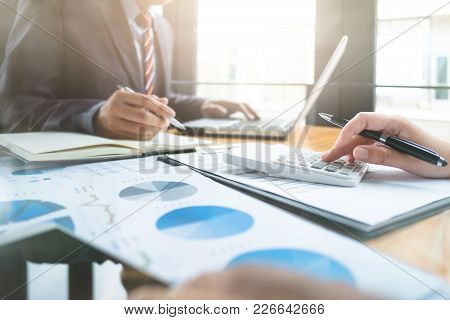 Business Audits Using A Calculator Financial Data Investment Fund At A Workplace, Wealth Concept