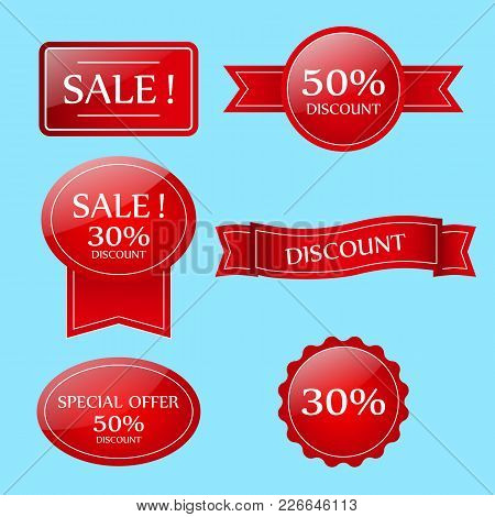 Sale  Banner.  Sale Sticker.special Offer Sale Sticker In Flat Style. Discount Tag. Special Offer Ba