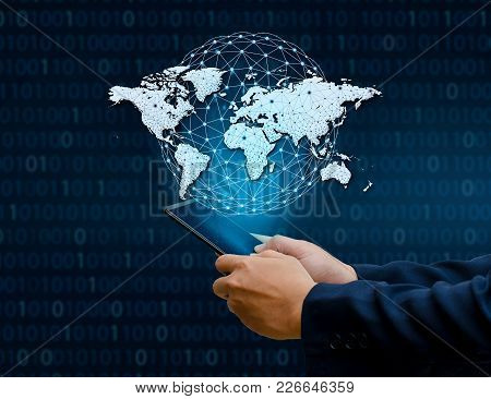 Global Communications Map Binary Smart Phones And Globe Connections Uncommon Communication World Int