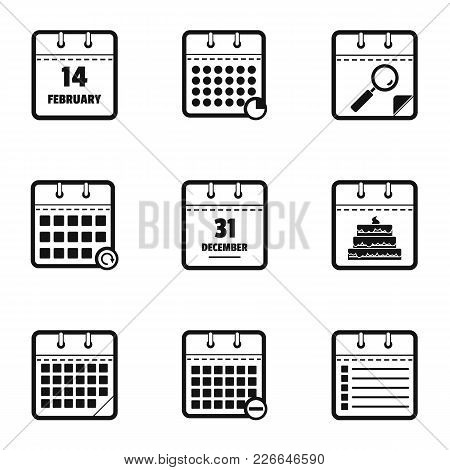 Blog Icons Set. Simple Set Of 9 Blog Vector Icons For Web Isolated On White Background