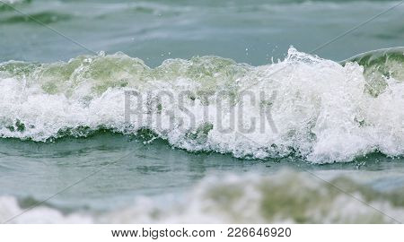 Waves On The Lake . Photo Of An Abstract Texture