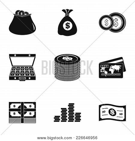 Financing Icons Set. Simple Set Of 9 Financing Vector Icons For Web Isolated On White Background