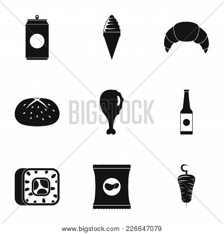Gobble Icons Set. Simple Set Of 9 Gobble Vector Icons For Web Isolated On White Background