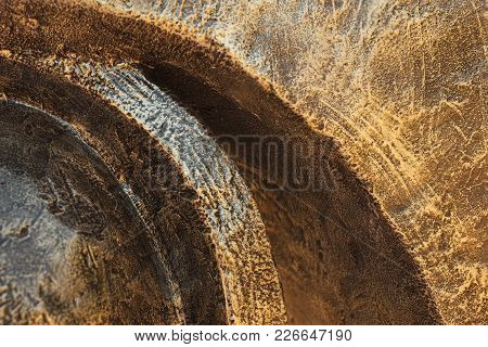 Background Relief Texture Of Gold Or Iron For Any Purpose