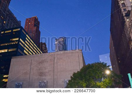 Picture Of Downtown In New York City United States Of  America