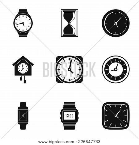 Timing Signal Icons Set. Simple Set Of 9 Timing Signal Vector Icons For Web Isolated On White Backgr
