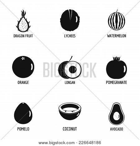 Wild Berry Icons Set. Simple Set Of 9 Wild Berry Vector Icons For Web Isolated On White Background