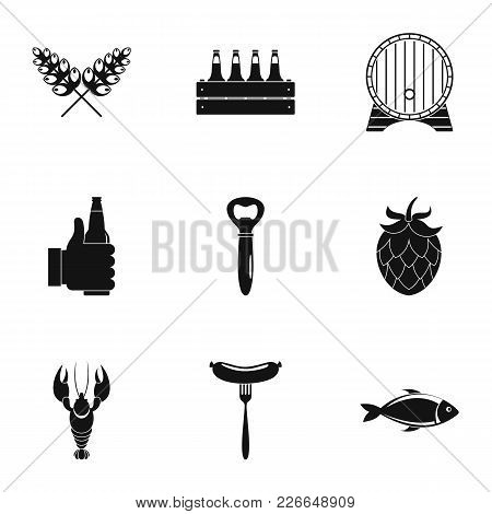 Light Food Icons Set. Simple Set Of 9 Light Food Vector Icons For Web Isolated On White Background