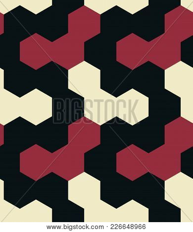 Irregular Hexagon Seamless Pattern. For Print, Fashion Design, Wrapping Wallpaper