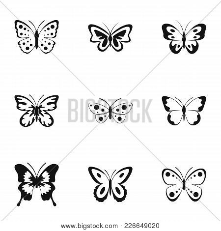 Bombyx Icons Set. Simple Set Of 9 Bombyx Vector Icons For Web Isolated On White Background