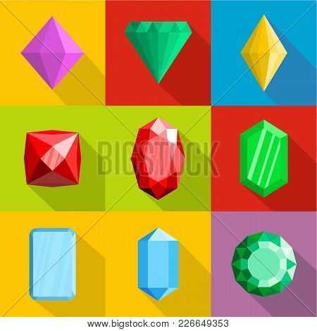 Jewelry Icons Set. Flat Set Of 9 Jewelry Vector Icons For Web Isolated On White Background