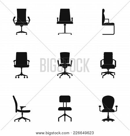 Chair Icons Set. Simple Set Of 9 Chair Vector Icons For Web Isolated On White Background