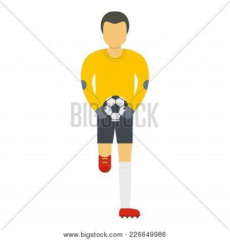Goalie Icon. Flat Illustration Of Goalie Vector Icon For Web