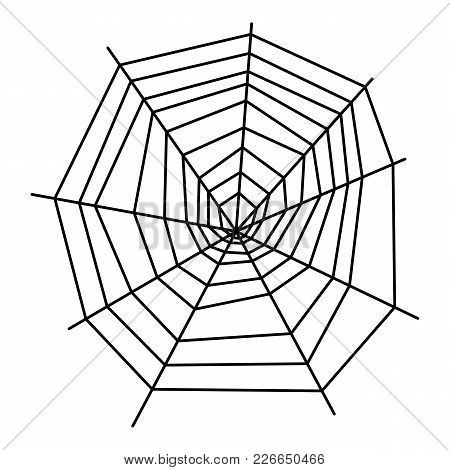 Formed Spiderweb Icon. Outline Illustration Of Formed Spiderweb Vector Icon For Web