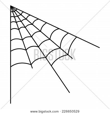 Angle Spiderweb Icon. Outline Illustration Of Angle Spiderweb Vector Icon For Web