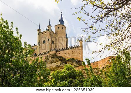The Alcazar Of Segovia Located In The City Of Segovia (castile And Leon, Spain), A World Heritage Si
