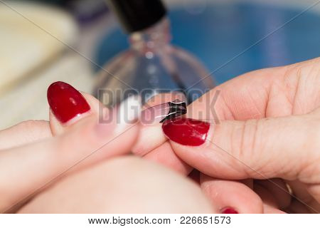 Manicure In Beauty Salon . Photos In The Studio