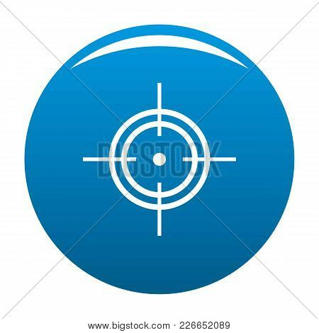 Aim Icon Vector Blue Circle Isolated On White Background