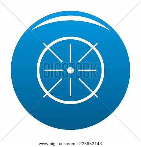 Center Icon Vector Blue Circle Isolated On White Background