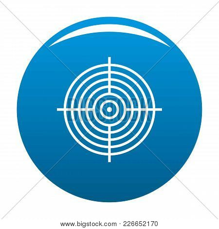 Aiming Radar Icon Vector Blue Circle Isolated On White Background