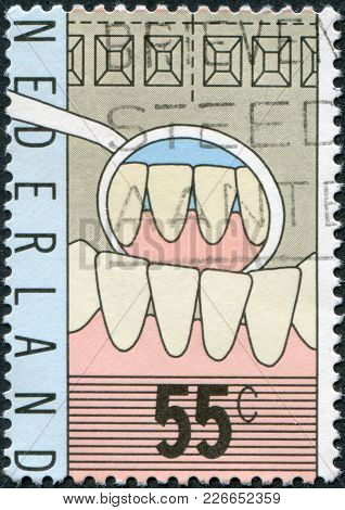 Netherlands - Circa 1977: A Stamp Printed In The Netherlands, Is Dedicated To The 100th Anniversary